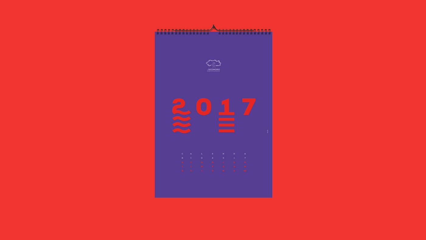 grafica calendario Il sicomoro matera ego55